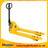 China 3T Capacity AC Casting Pump Hydraulic Cylinder Manual Hand Pallet Truck For Warehouse on sale