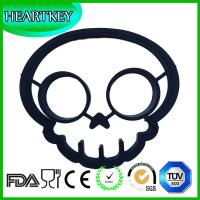 Quality Family fun DIY Creative Silicone skull Shape Silicone Egg Poacher Silicone Egg Fried rings for sale