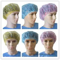 China Disposable PE Shower Cap with Cute Heart/PE transparent shower cap/shower cap for hotel on sale
