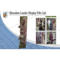 Buy cheap Advertising Makeup / Cosmetic Carton Display Stands For Sales Retail With Hooks from wholesalers