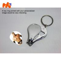 Quality Sublimation Nailnippers Personalized Metal Keychains With Name And Logo DIY Gift for sale