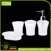Best Factory Manufacturer Cheap Price Good Quality White Transparent Plastic Bathroom Accessories Sets wholesale