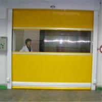 China Automatic flexible high speed clean workshop pvc rolling door on sale