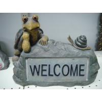Best Polyester Epoxy Resin Crafts Decorative Statue Sculpture of Tortoise on Rock wholesale