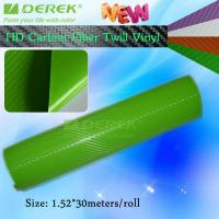 Quality High-definition Carbon Fiber Vinyl Car Wrapping Film - Apple Green for sale