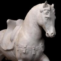 Animal Garden Ornament Sculpture Life Size Marble Stone Horse Statue For Sale