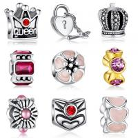 Buy 19 Styles Handmade Sterling Silver Pandora Style Beads Fit Bracelet And Necklace at wholesale prices