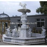 Quality Large white marble fountain for sale