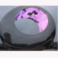 Quality Outdoor Large metal round stainless steel sculpture project,Stainless steel sculpture supplier for sale