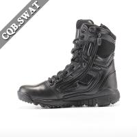 China CQB.SWAT Genuine Leather Detal Zipper Mens Boots Army Combat Boot on sale