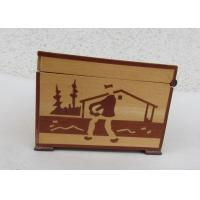 Quality Tarot Card Packaging Pine Wooden Storage Box With Lacquer Customized Logo for sale