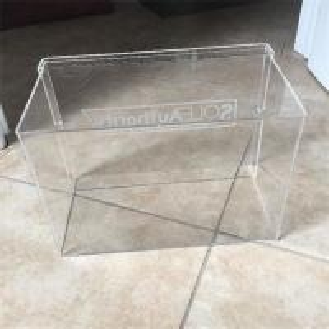 China Customized high quality acrylic display box clear acrylic shoe box on sale