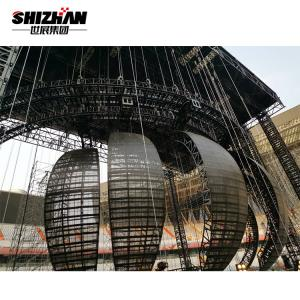 Quality Heavy Duty Customized Concert Truss System LED Ball Curved Lighting Truss Structure for sale