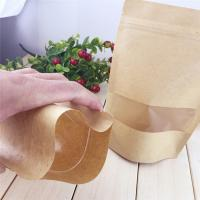 China Clear Window Customized Paper Bags , Zipper Brown Paper Bags on sale
