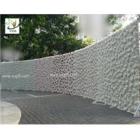 Best UVG 2.4m curved big fake flower wall wedding backdrops in silk rose and hydrangea for sale wholesale