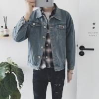 China Light Blue Mens Jean Jackets Casual Style All Match Two Pockets Anti Pilling on sale