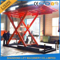 China High Pressure Oil Pump Hydraulic Portable Scissor Lift Table for Home Garage  on sale