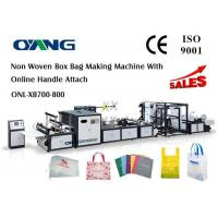 Quality Multifunctional Automatic Non Woven Bag Making Machine Computerized 18 KW for sale