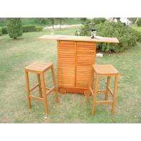 China China LFurniture Outdoor Wood Storage Cabinet with 2 Stools-2 on sale