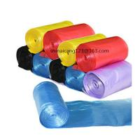 HDPE/LDPE C FOLD TRASH/GARBAGE BAGS ON ROLL , biodegradable plastic bags