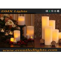 Quality Christmas Remote Led Flameless Candles / Color Changing Led Decorative Candles With Clip for sale