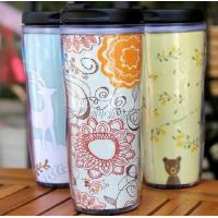China Double plastic cup,advertising gift cup, double insulation cup on sale