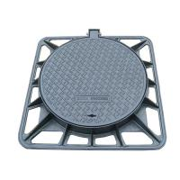 Quality Locking System Folding Cast Iron Manhole Cover Square Frame For Road Facilities for sale