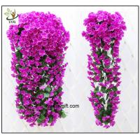 Best UVG artificial flowers wholesale hanging silk violet wreath for wedding flower arrangements WIS017 wholesale