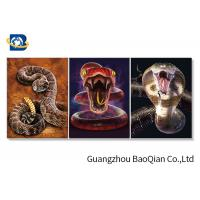 China Wall Decorative Framed 3d Picture Of  Ocean Animal / Snake , Moving Flipped Photo on sale