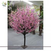 Best UVG CHR075 Pink Peach Blossom Decorative Artificial Wooden Tree for Wedding and Party Lan wholesale