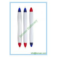 Quality two color ball pen,double color pens, can be customized for printing for sale