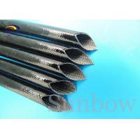 Quality Heat proof High Voltage Silicone Fiberglass Sleeving inside fiber and outside rubber for sale