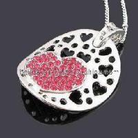Quality Crystal Diamond Charm Necklace for Girls for sale