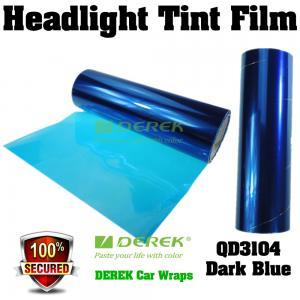 Quality Car Headlight Tint Film 3 layers 0.3*10m/roll - Deep Blue for sale