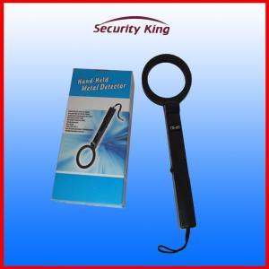 China Black Fold Handheld Metal Detector Hand Wand Scanner Sound And Light Alarm on sale