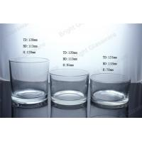 Best clear large cylinder glass candle jar in home decoration wholesale