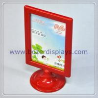 Quality Tabletop Poster Advertising Plastic Display Stand for Hotel for sale