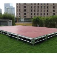 Quality 4ft *4ft 6082 Aluminum Movable Stage Platform 18mm Thinkness Anti Slip And Fireproof Plywood For event on water for sale