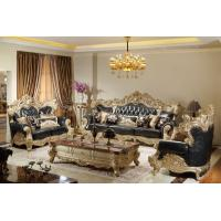 China Luxury Classic Living room Sofa sets online direct sales price by Beech wood carfted and Import Italy Leather upholstery on sale