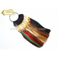 China 20 CM 32 Popular Colors Human Hair Color Wheel / Colour Ring For Sale on sale