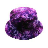 Quality Flat Top Custom Tie Dye Bucket Hat 58CM Portable Polyester With Smooth Tactility for sale