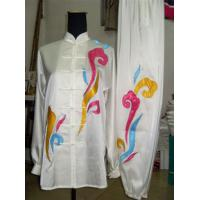 China fine women kungfu suit with colorized clouds on sale
