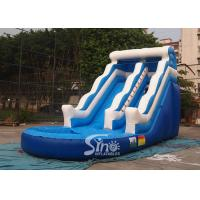 Quality 18' wave commercial kids inflatable water slide with EN14960 certified for summer parties for sale