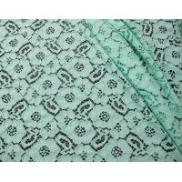 China Mint Green Guipure Cotton Nylon Lace Fabric /  Upholstery Fabric SYD-0010 on sale