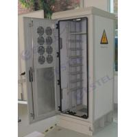 Quality 19 Inch Rack Mount Outdoor Telecom Cabinet Anti Theft Lock Bar 8 Ventilation Fan for sale