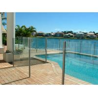 China 8mm Flat Tempered Glass Pool Fencing , Splashback Glass Handrails on sale