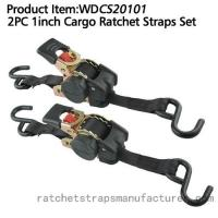 Quality WDCS20101 2PC 1inch Cargo Ratchet Straps for sale
