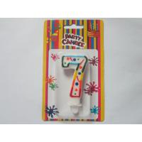 Celebration Figure 7 Birthday Number Candles / Paraffin Numerical Birthday Candles SGS Approved