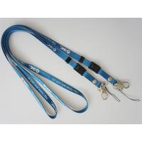 China 1cm Blue Silk Screen Printed lanyard with Metal Rivet, Rivet Camera Lanyards on sale