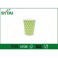 Best Love Printing Disposable Green Cold Drink like dotted single wall paper cups wholesale